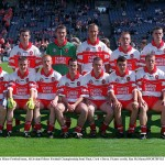 20 August 2000; Derry Minor Football team, All Ireland Minor Football Championship Semi Final, Cork v Derry. Picture credit; Ray McManus/SPORTSFILE